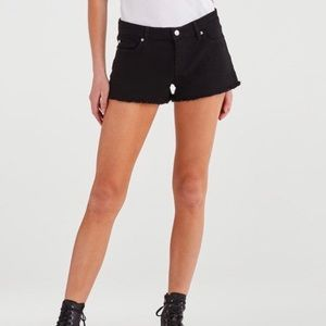7 For All Mankind Black Cut Off Short